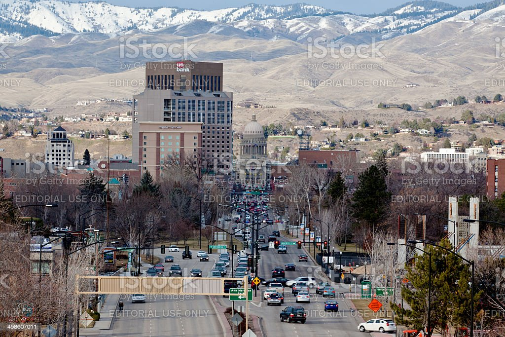 Downtown Boise late afternoon royalty-free stock photo