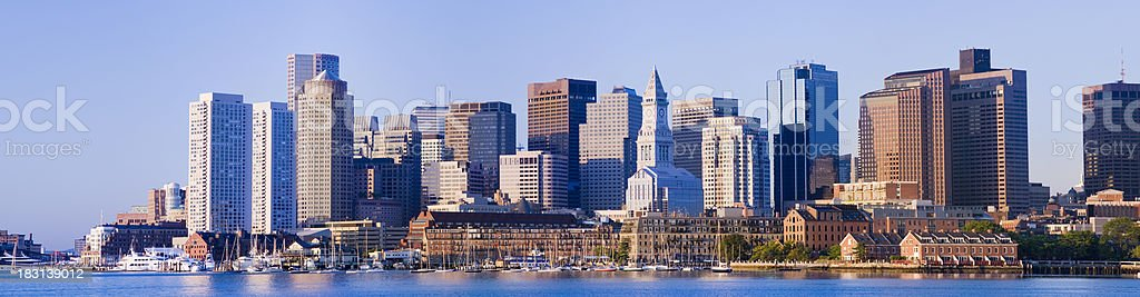 Downtown Boston City Skyline in the USA royalty-free stock photo