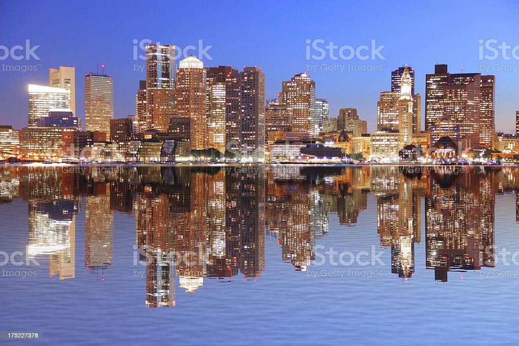 Downtown Boston Cityscape royalty-free stock photo