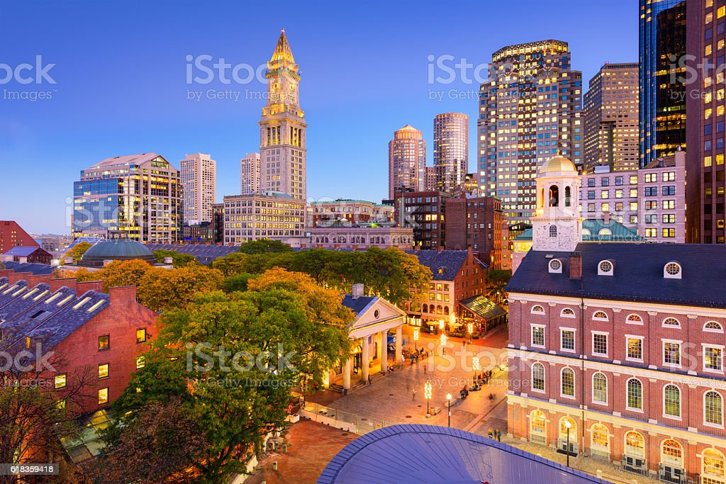 Downtown Boston Cityscape stock photo