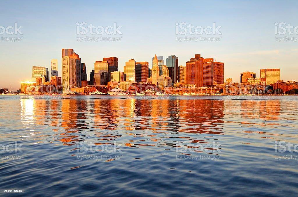 Downtown Boston Skyline stock photo