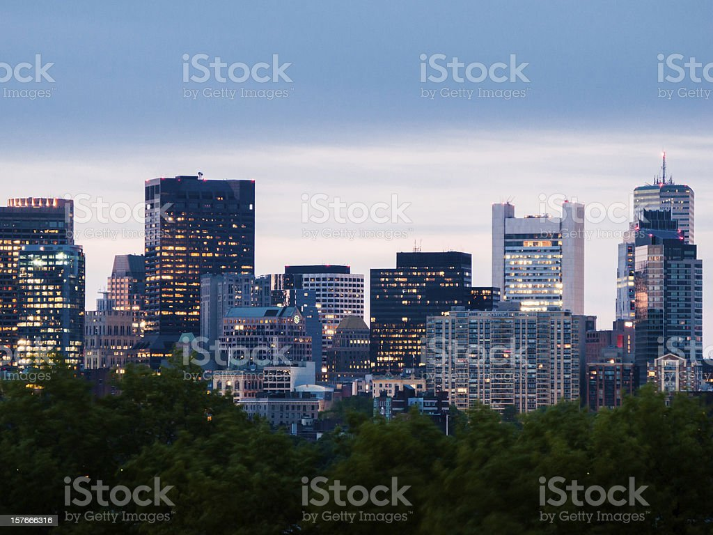 Downtown Boston Skyscrapers royalty-free stock photo