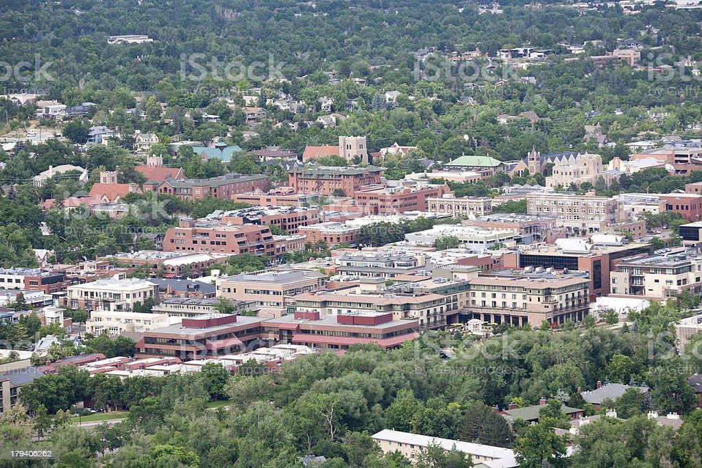 Downtown Boulder, Colorado royalty-free stock photo