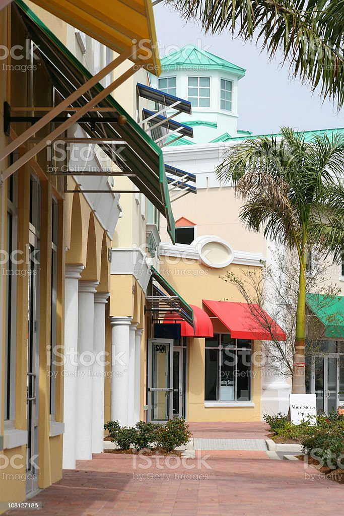 Downtown Boutique Shops royalty-free stock photo