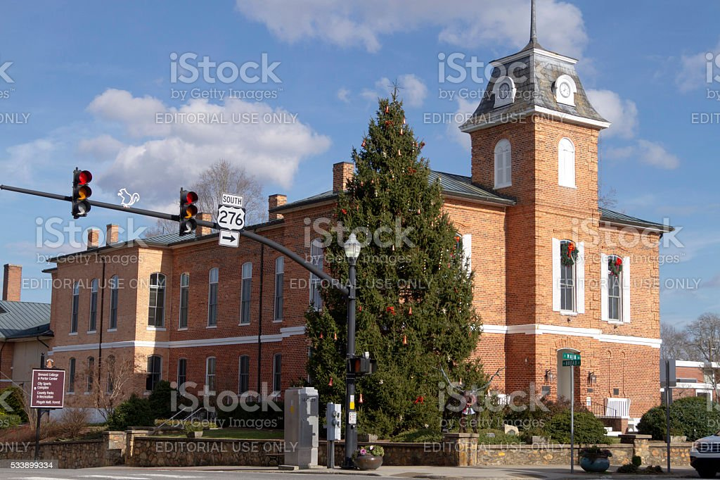 Downtown Brevard, NC, Home of Albino Squirrels stock photo