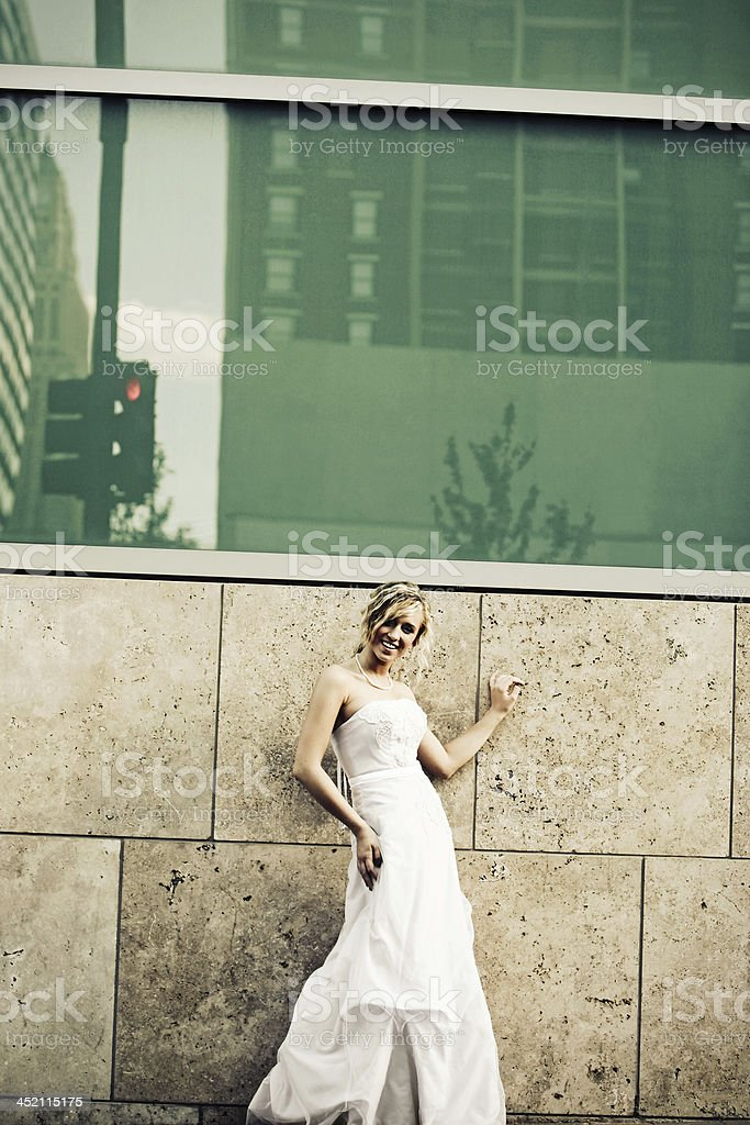 Downtown Bride royalty-free stock photo
