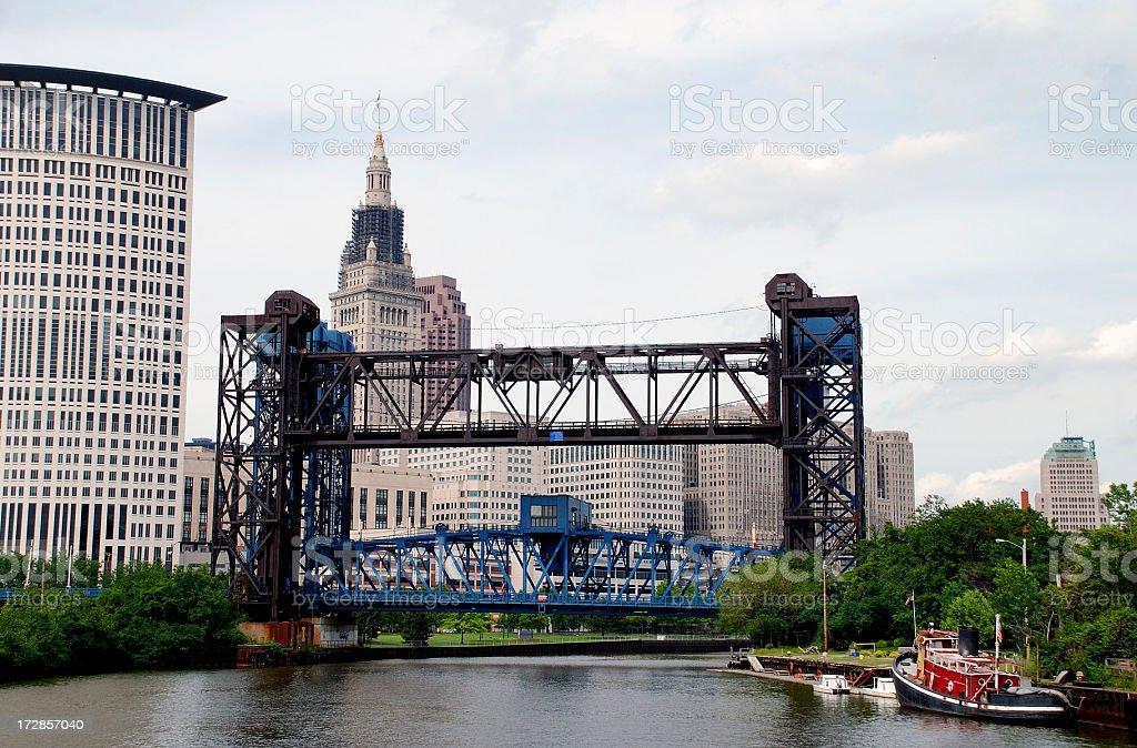 Downtown Bridges stock photo