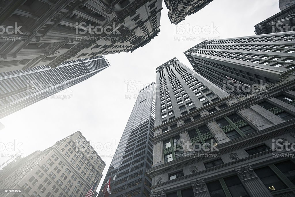 Downtown building in lower manhattan royalty-free stock photo