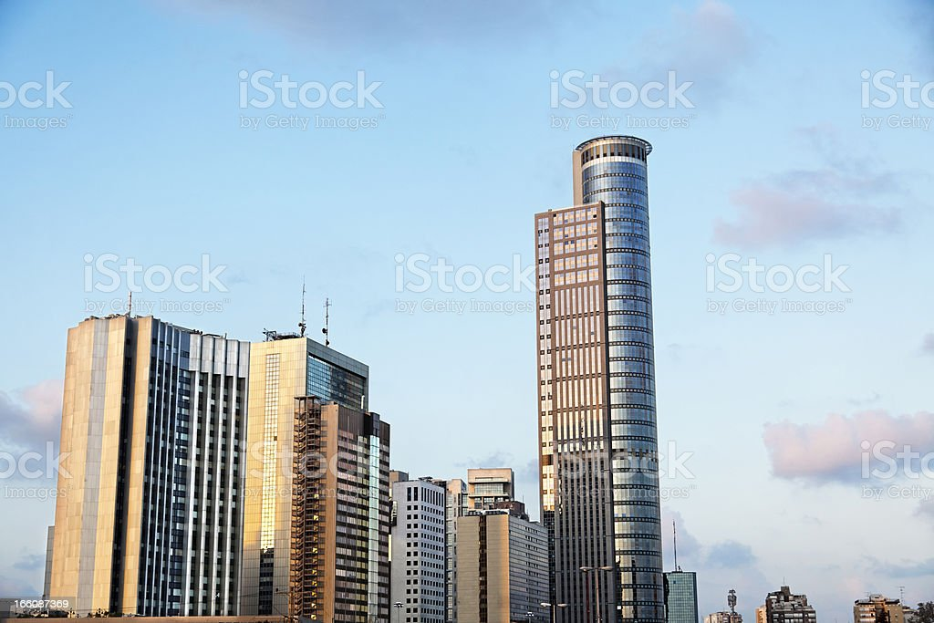 Downtown Buildings Cluster stock photo