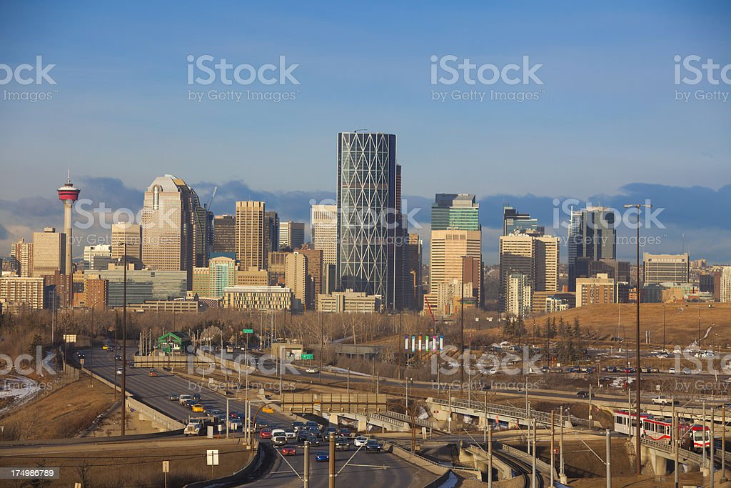 Downtown Calgary Skyline royalty-free stock photo