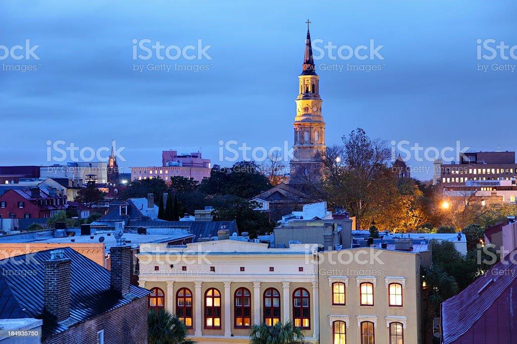 Downtown Charleston, South Carolina royalty-free stock photo