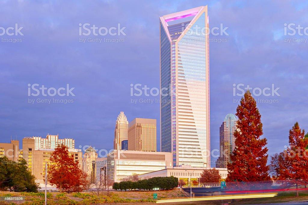 Downtown Charlotte North Carolina USA stock photo