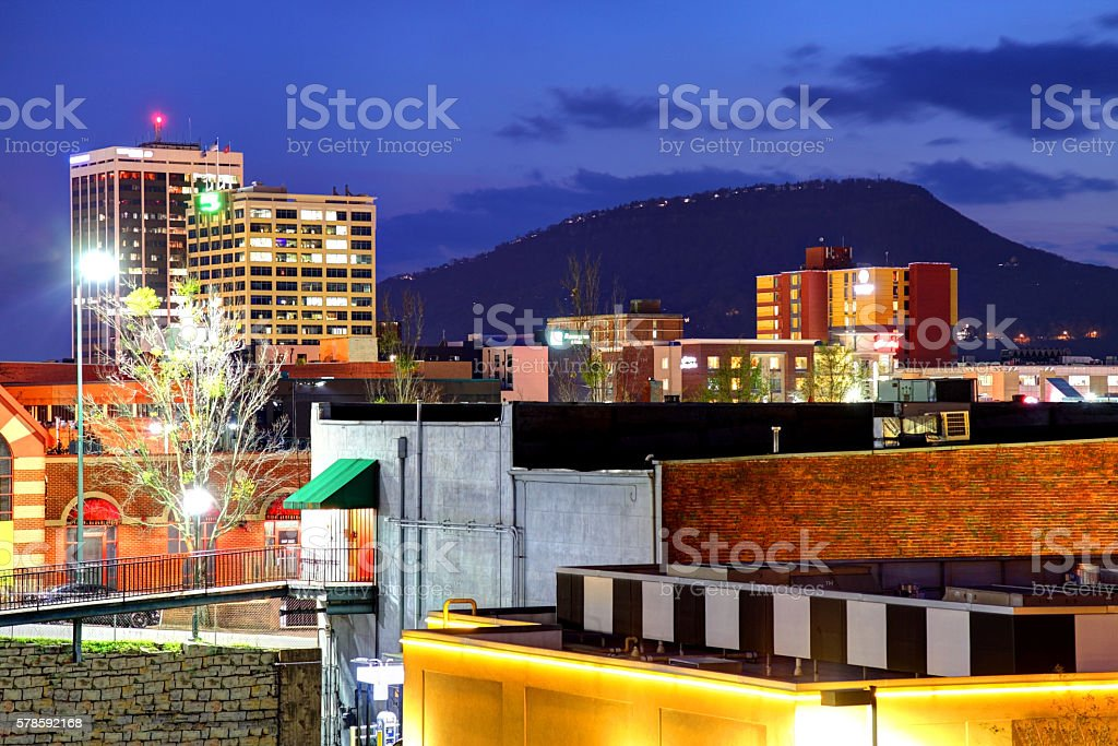 Downtown Chattanooga Tennessee Skyline stock photo