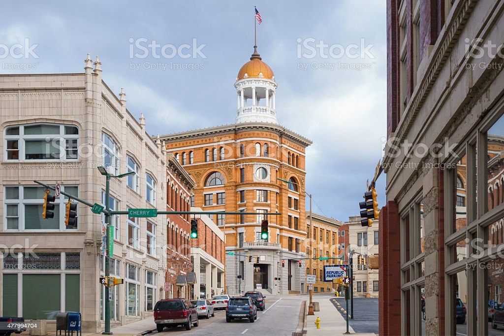 Downtown Chattanooga Tennessee USA Dome Building stock photo