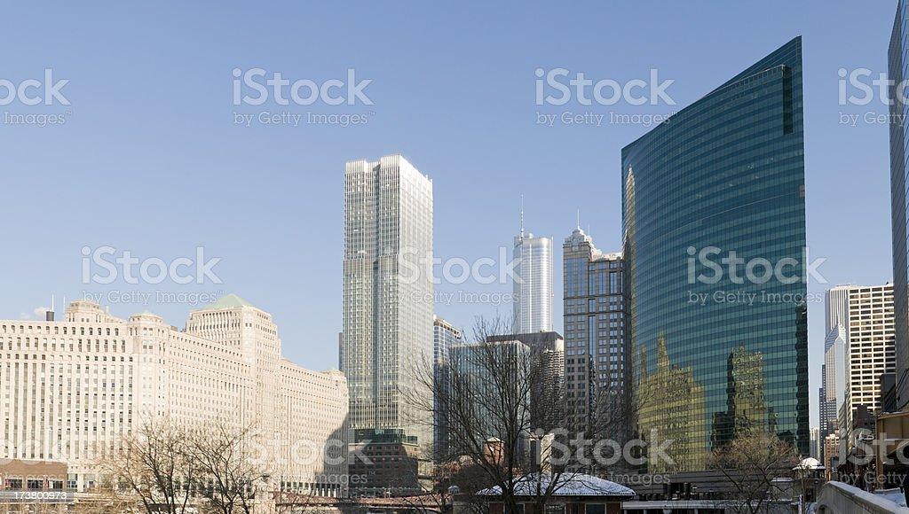 Downtown Chicago Buildings stock photo