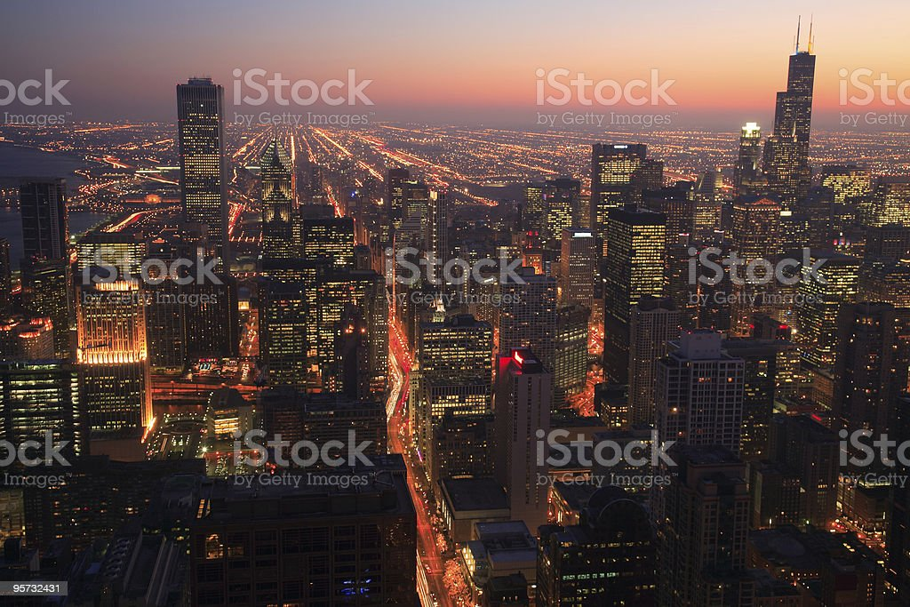 Downtown Chicago, Illinois stock photo