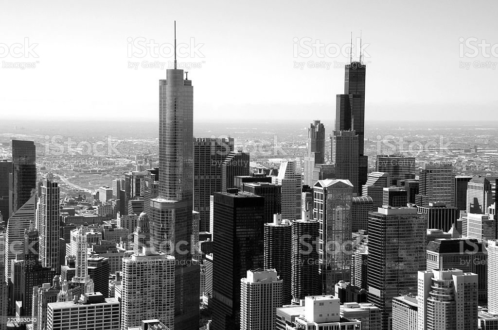 Downtown Chicago stock photo