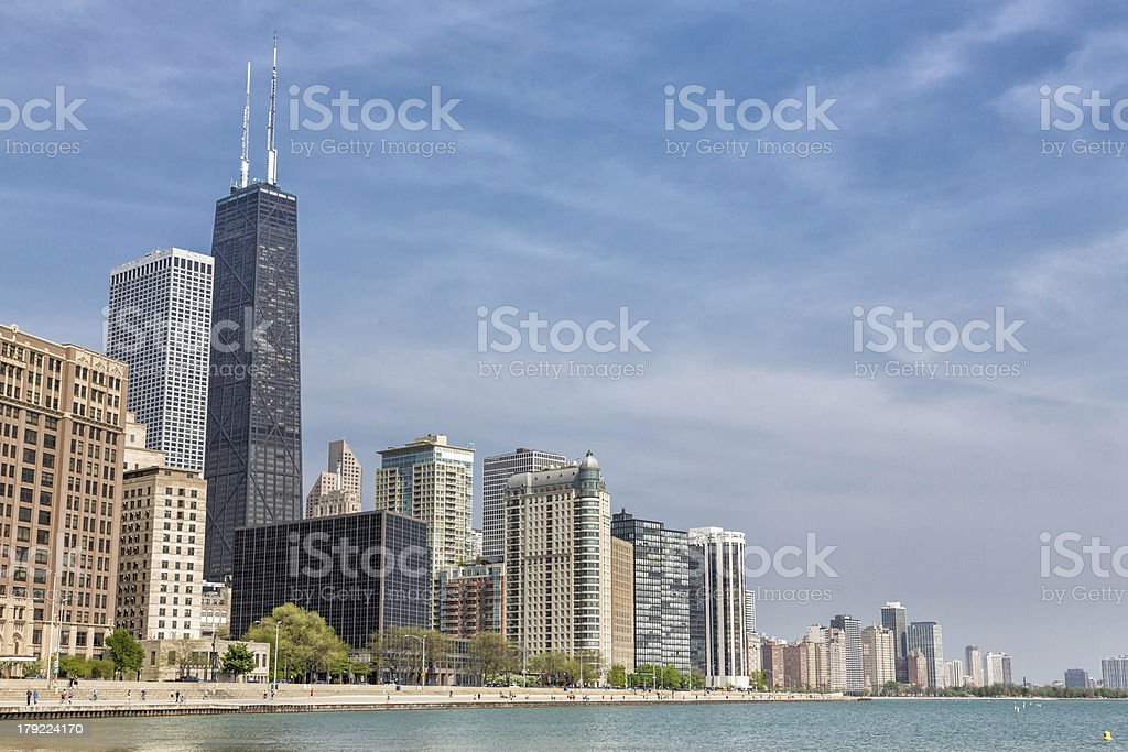 Downtown Chicago royalty-free stock photo