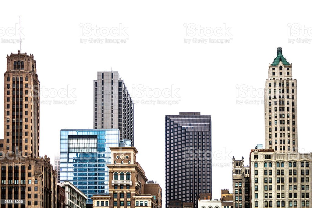 Downtown Chicago. stock photo