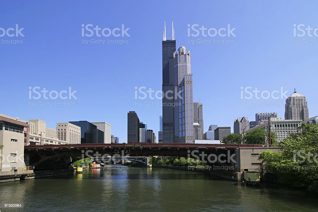 Downtown Chicago (3105) royalty-free stock photo