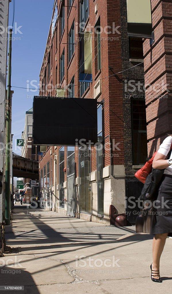 Downtown Chicago Sidewalk royalty-free stock photo