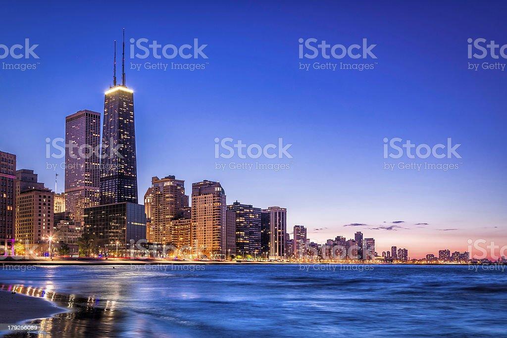 Downtown Chicago skyline stock photo