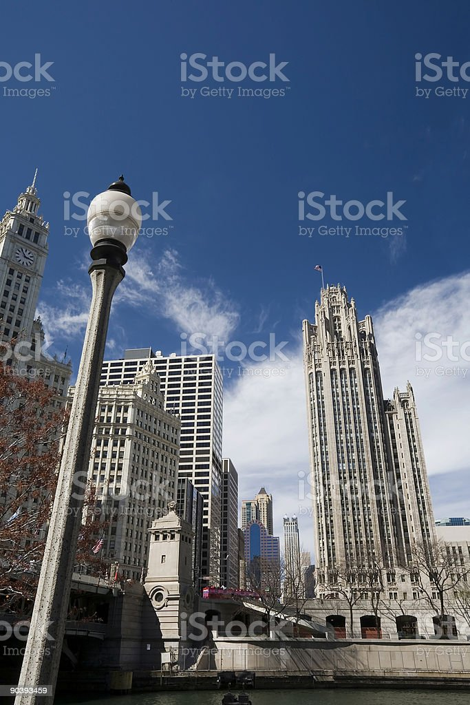 Downtown Chicago, Tribune Tower royalty-free stock photo