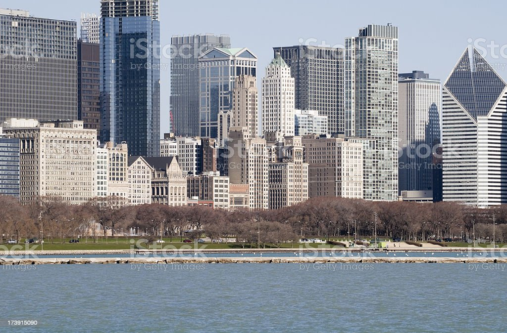 Downtown Chicago Waterfront stock photo