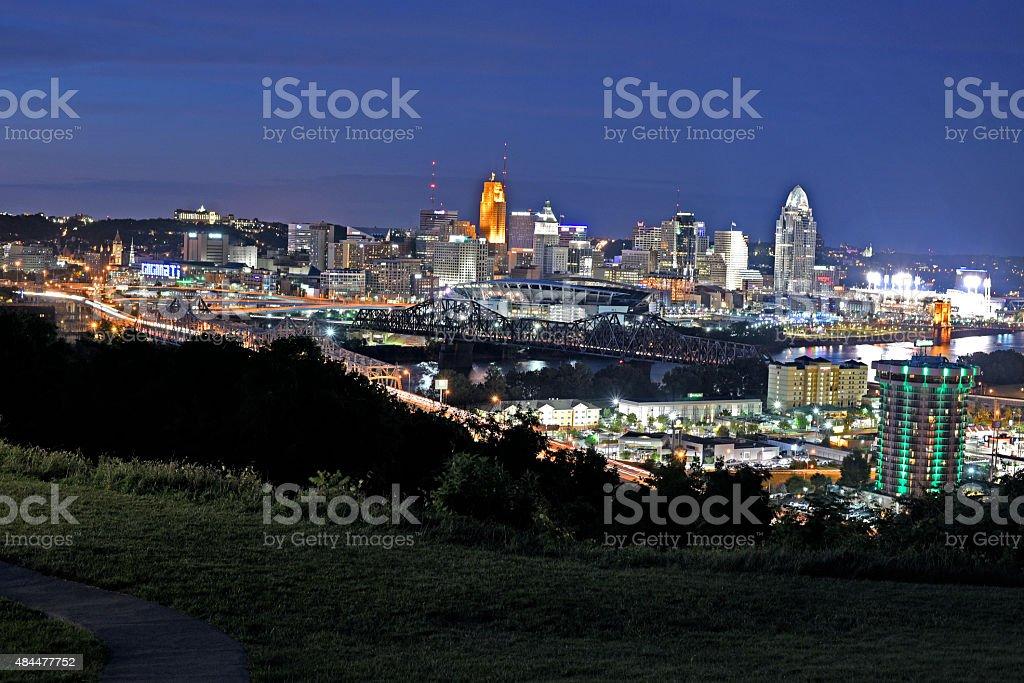 Downtown Cincinnati stock photo