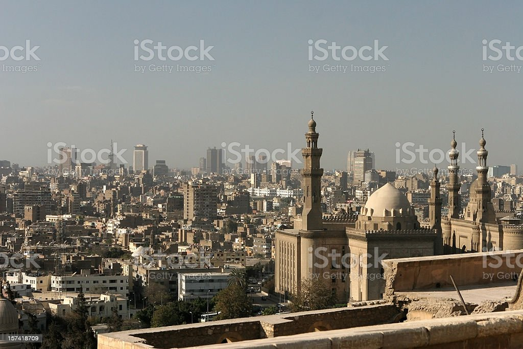 Downtown city of Cairo, Egypt stock photo