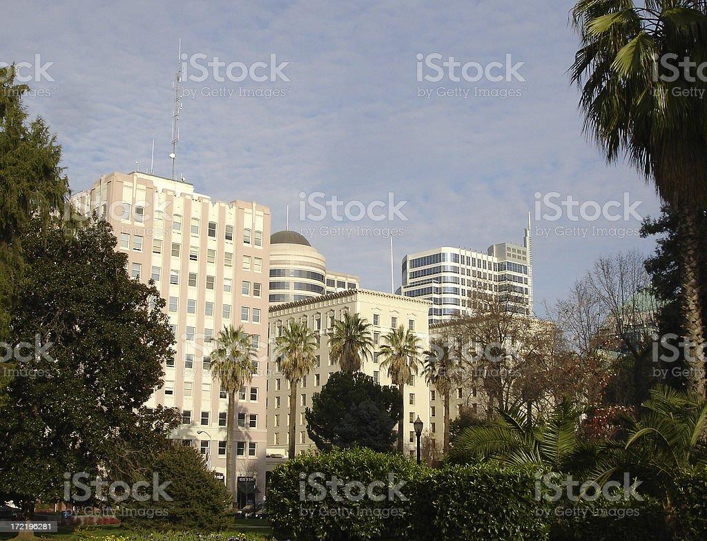 Downtown city scene royalty-free stock photo