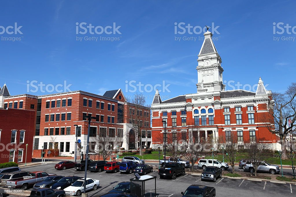 Downtown Clarksville, Tennessee stock photo