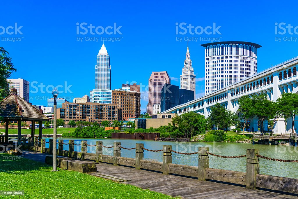 Downtown Cleveland Ohio Skyline (P) stock photo