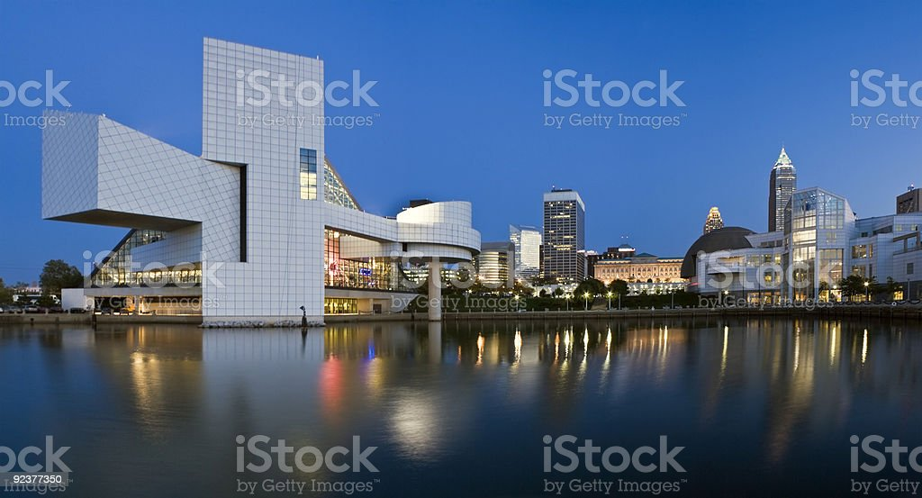 Downtown Cleveland stock photo
