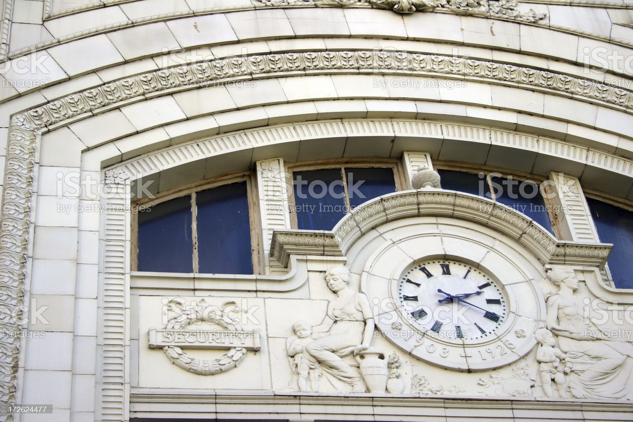 Downtown Clock royalty-free stock photo