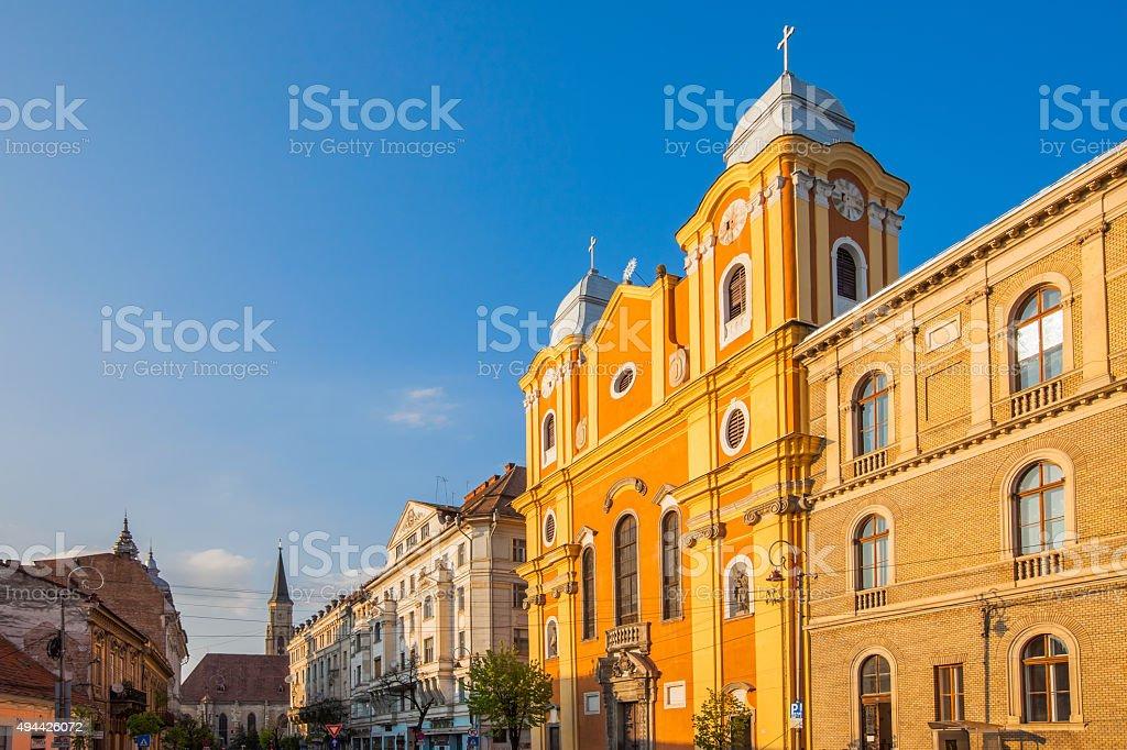 Downtown Cluj Romania stock photo