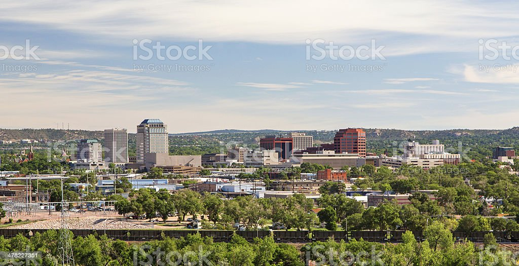 Downtown Colorado Springs in Summer stock photo