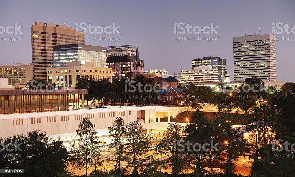 Downtown Columbia stock photo
