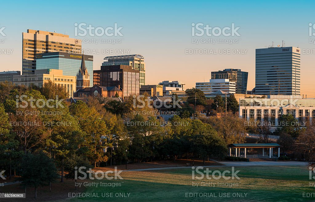 Downtown Columbia stock photo
