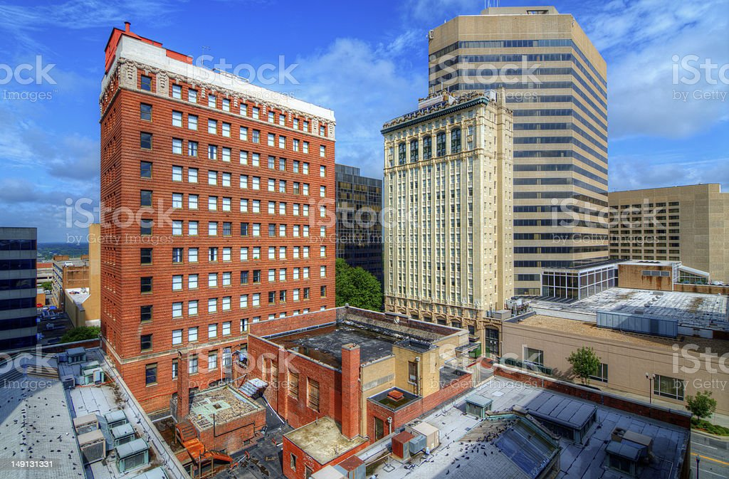 Downtown Columbia South Carolina stock photo