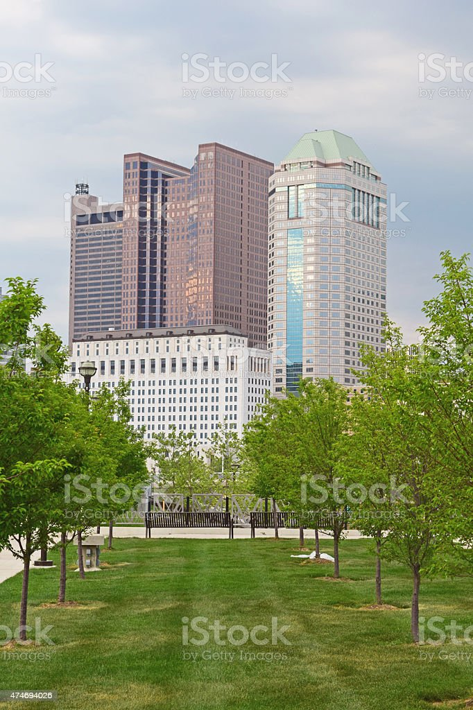 Downtown Columbus Ohio during Springtime stock photo