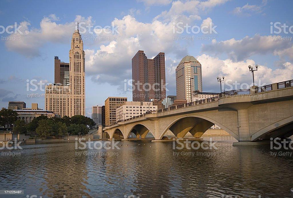 Downtown Columbus Ohio royalty-free stock photo