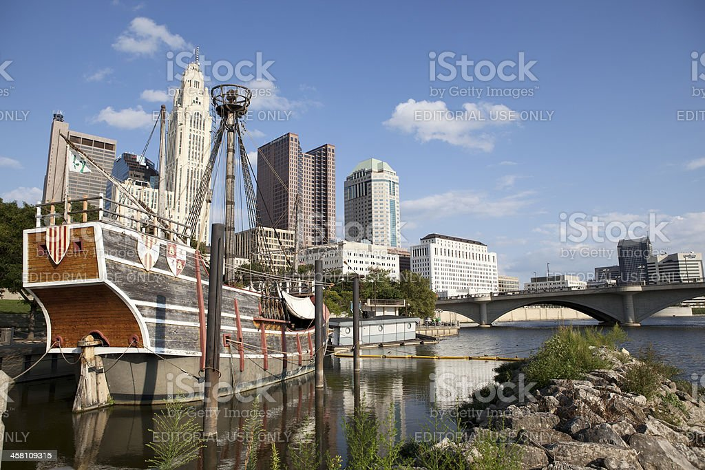 Downtown Columbus Ohio royalty-free stock photo