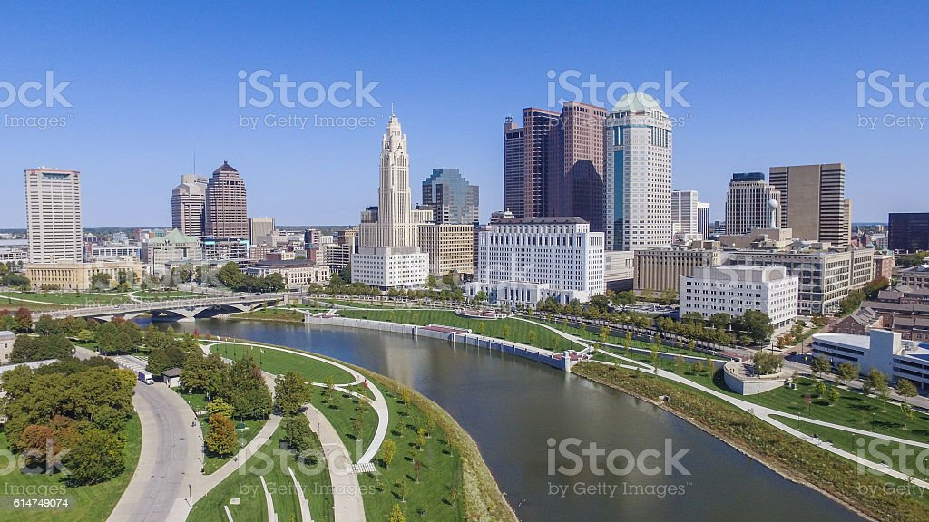 Downtown Columbus, Ohio stock photo