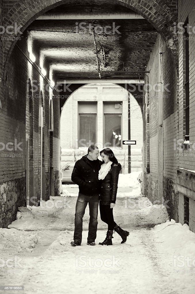 Downtown Couple royalty-free stock photo