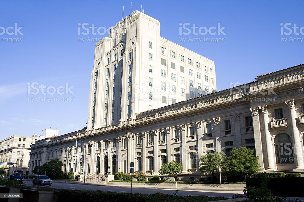 Downtown courthouse royalty-free stock photo