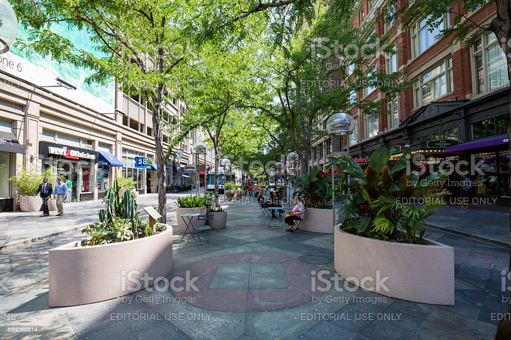 Downtown Denver in Colorado in August 2015 stock photo
