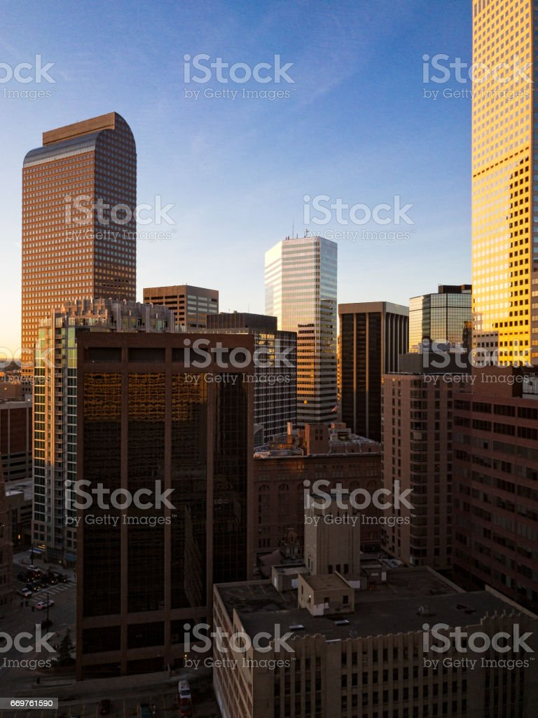 Downtown Denver Skyscrapers Architecture stock photo