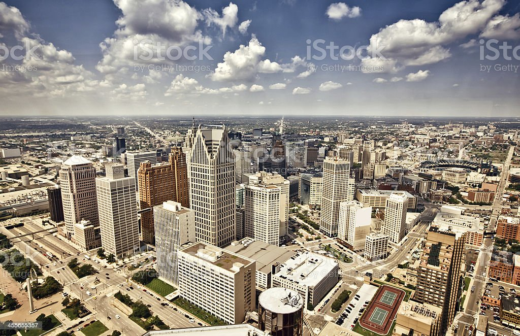 Downtown Detroit royalty-free stock photo