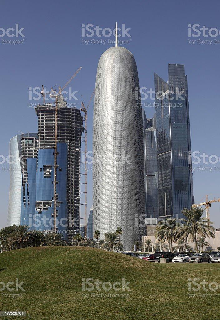 Downtown district of Doha, Qatar stock photo